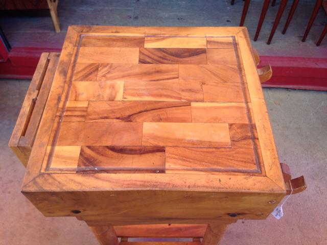 butcher s block cutting board loveseat vintage furniture