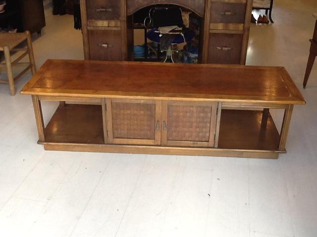 midcentury wood cocktail table coffee table loveseat