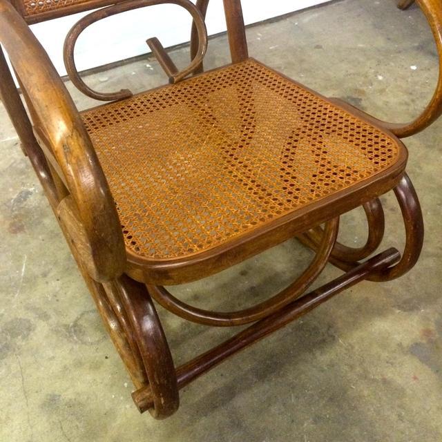 michael thonet bentwood rocking chair loveseat vintage furniture