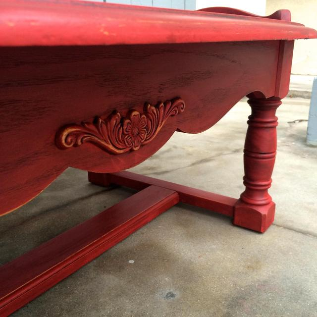 Shabby Chic Rustic Red Coffee Table Loveseat Vintage Furniture San Diego