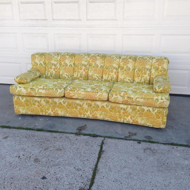 1960s retro mid century floral couch loveseat vintage for 80s floral couch