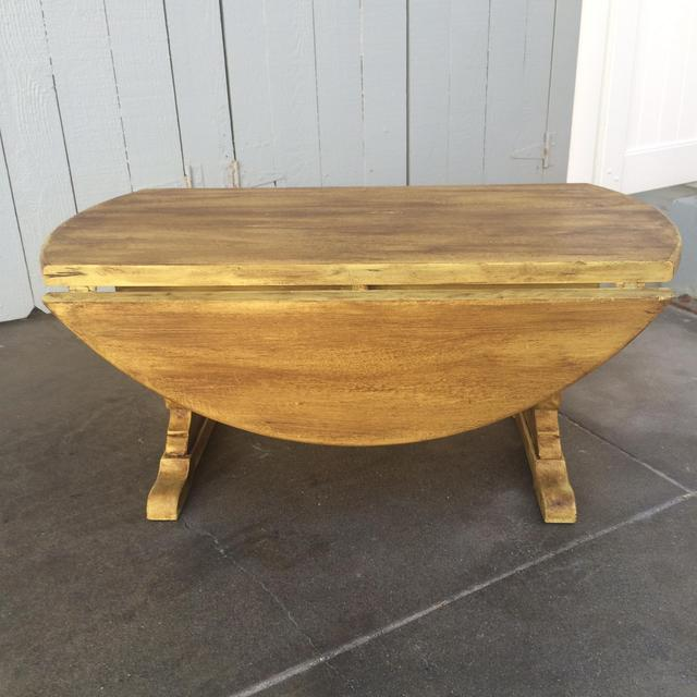 Gold Shabby Chic Coffee Table