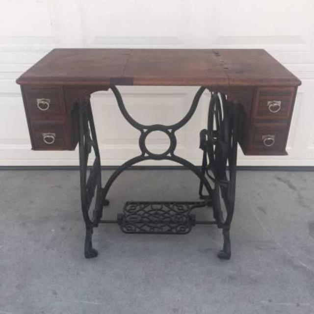 Vintage Cast Iron Sewing Console Table Loveseat Vintage Furniture San Diego