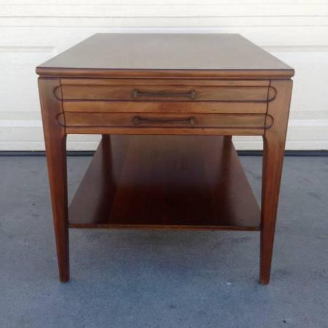 Mid century modern end table by mersman loveseat vintage for Mid century modern furniture san francisco