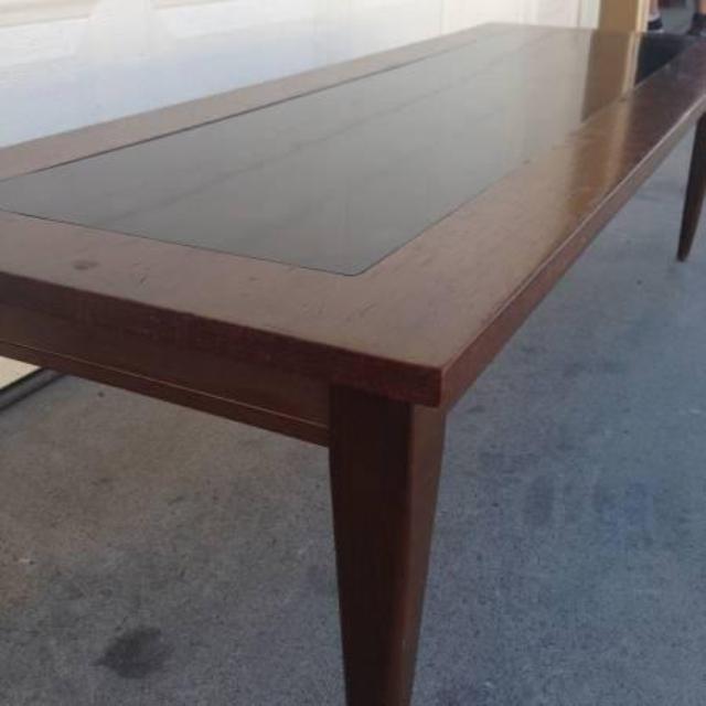 mid century modern coffee table loveseat vintage