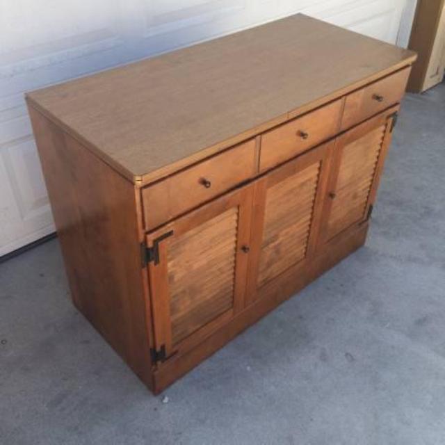Ethan Allen Desk Solid Wood Vintage Loveseat Vintage