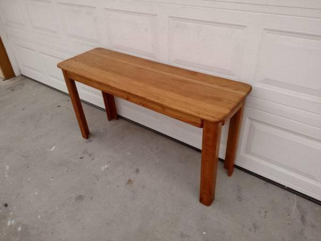 Solid Oak Vintage Sofa Console Table Loveseat Vintage Furniture San Diego