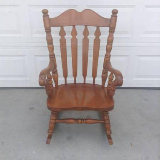 Solid Wood Vintage Rocking Chair  Loveseat Vintage Furniture