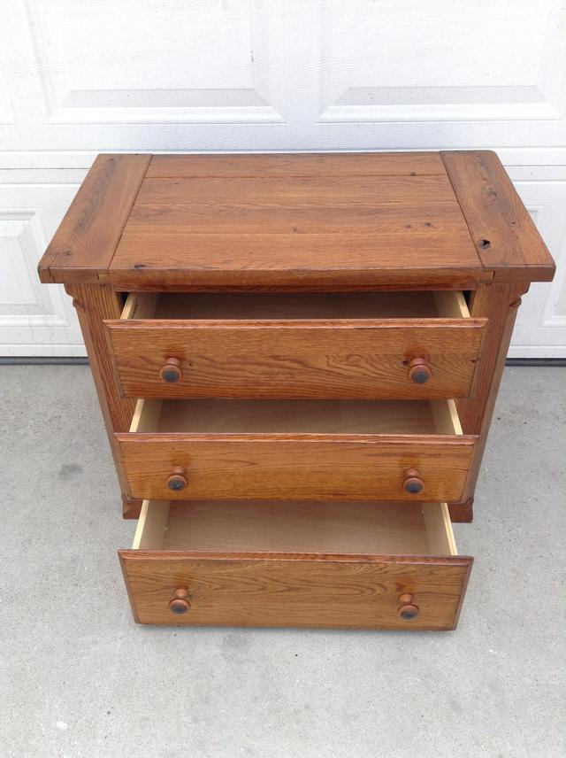 Solid Oak Dresser By Bassett Loveseat Vintage Furniture San Diego