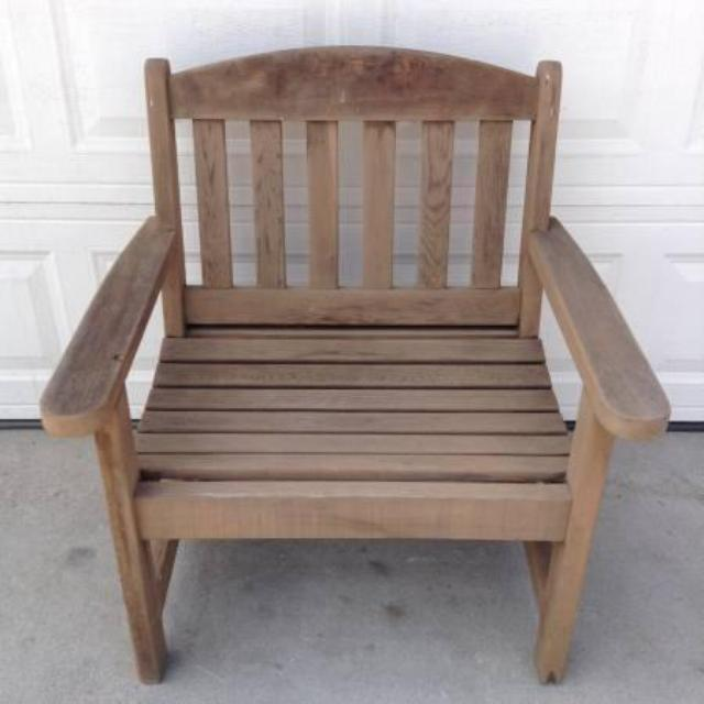 Wooden Teak Patio Chair Loveseat Vintage Furniture San Diego