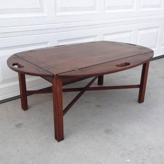 Vintage Butler Coffee Table: Butler Style Wooden Coffee Table