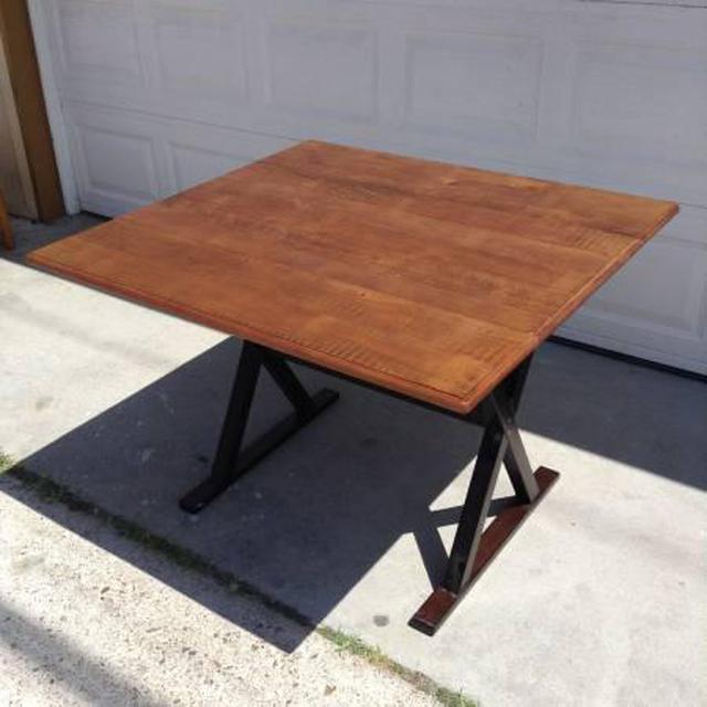Solid Wood Industrial Dropleaf Dining Table Loveseat Vintage Furniture San Diego