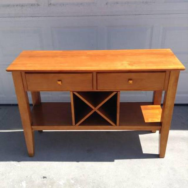 Solid Maple Console Table Loveseat Vintage Furniture San Diego