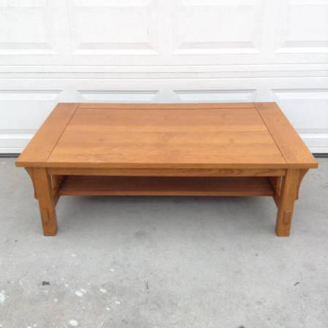 Solid Maple Mission Style Coffee Table By Quot Bassett