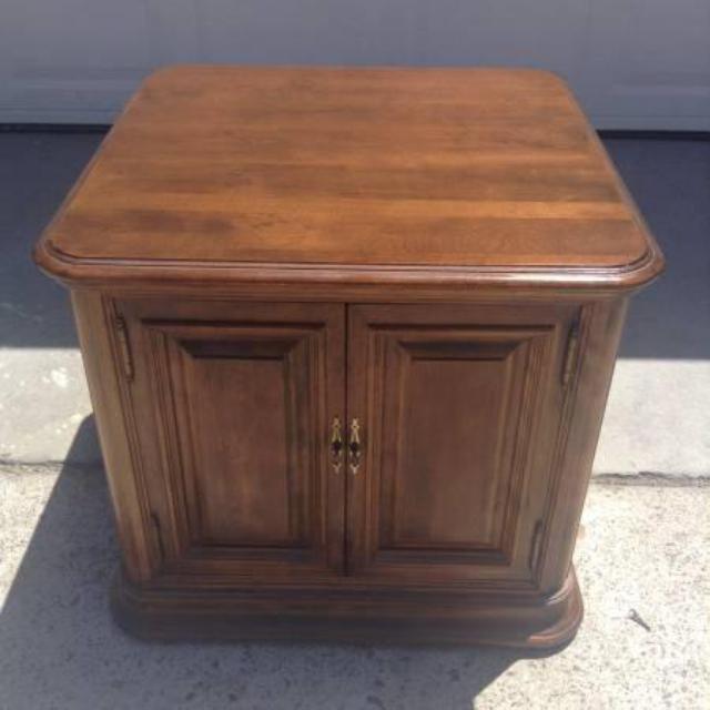 Ethan Allen Vintage End Table W Cabinet Loveseat Vintage Furniture San Diego