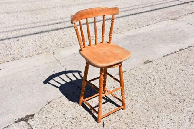 Solid Wood Spindleback Vintage Stool Loveseat Vintage Furniture San Diego