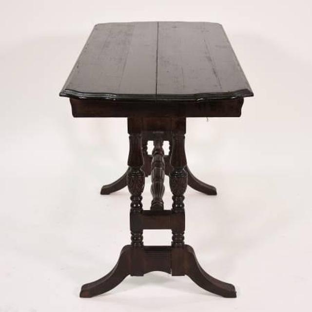 Antique Console Dining Table W Butterfly Leaf