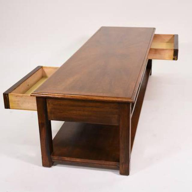 Solid Wood Vintage Coffee Table W 2 Sided Drawers Loveseat Vintage Furniture San Diego