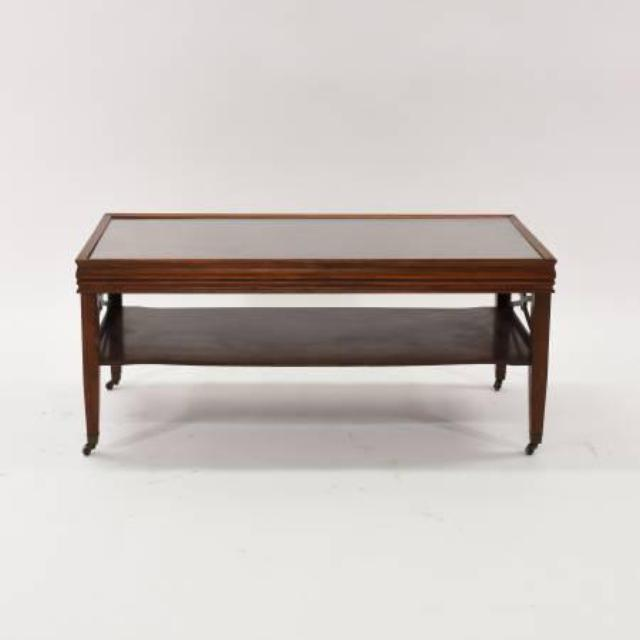 Traditional Coffee Table In Cherry W Glass Top Loveseat Vintage Furniture San Diego