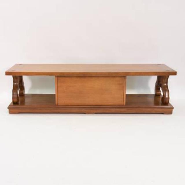 Retro Coffee Table W Two Doors In Solid Wood Loveseat Vintage Furniture San Diego