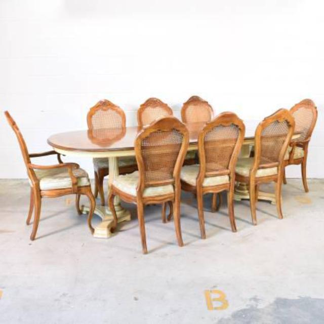 Quot Drexel Heritage Quot Dining Set W Leaf And 8 Chairs