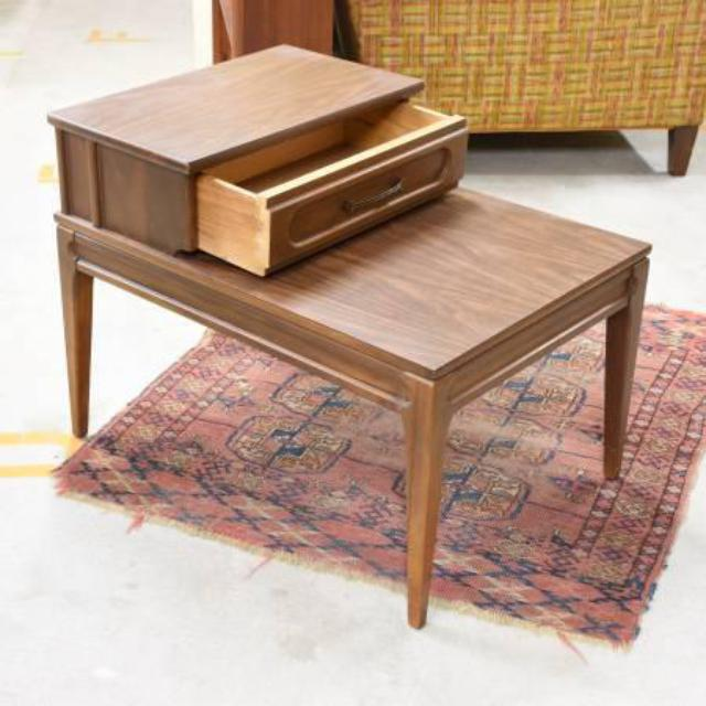 """Pair Of """"Mersman"""" End Tables W/ Drawer"""