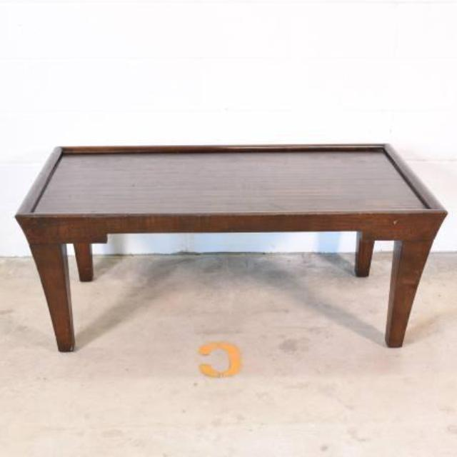 Large Dark Wood Rectangular Coffee Table Loveseat Vintage Furniture San Diego