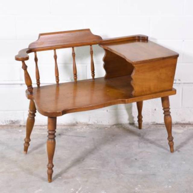 Solid Wood Gossip Bench Loveseat Vintage Furniture San Diego