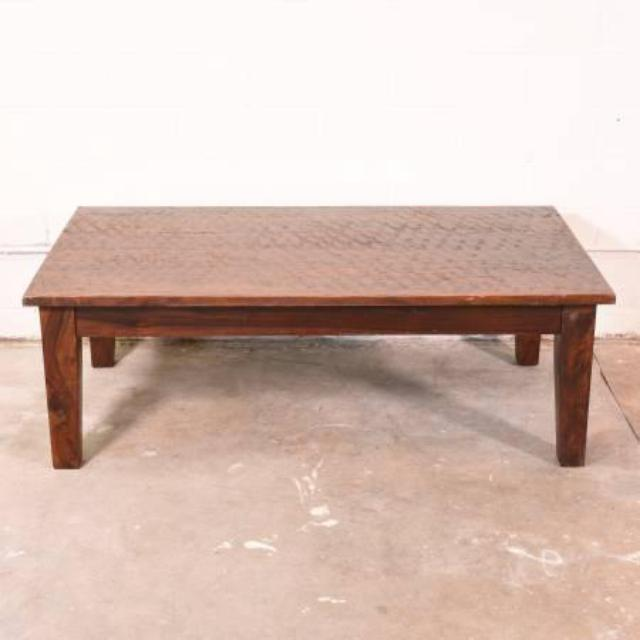 Rustic Solid Wood Coffee Table Loveseat Vintage