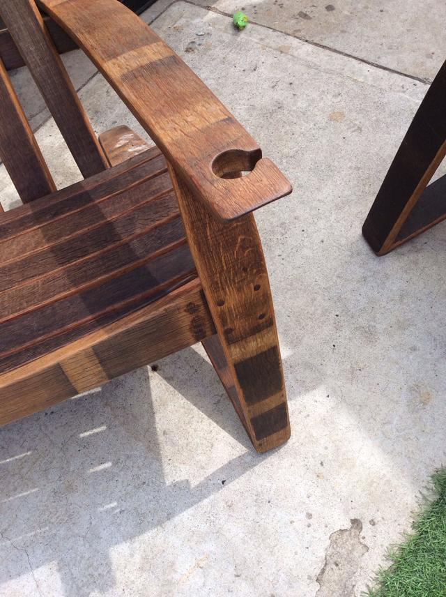 Wine Barrel Chair Loveseat Vintage Furniture San Diego