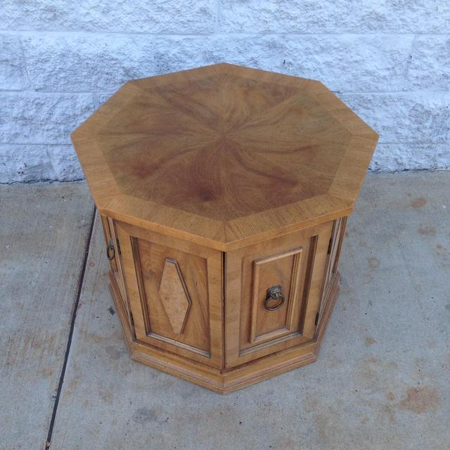 Mid Century Hexagon End Table W Storage Loveseat