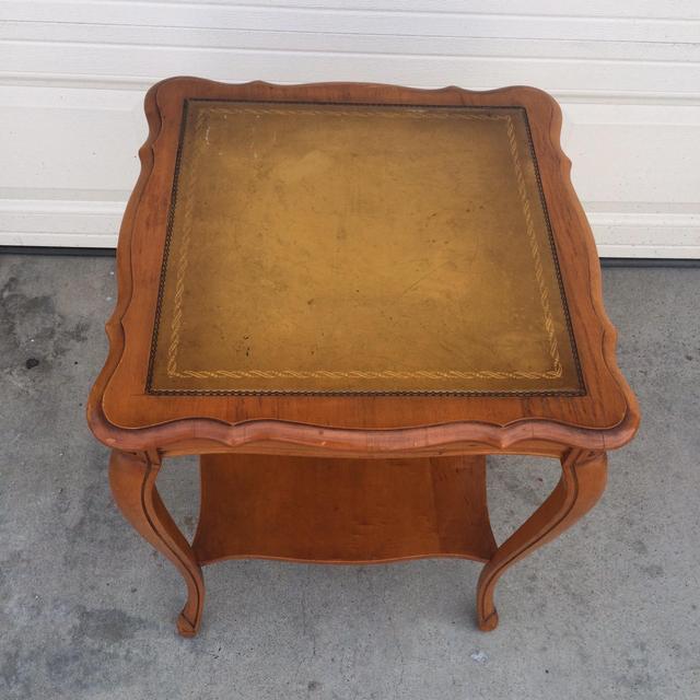 Vintage End Table W Leather Top Loveseat Vintage
