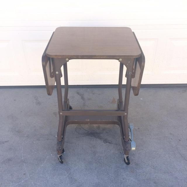 Vintage Typewriter Cart Rolling Laptop Stand Loveseat