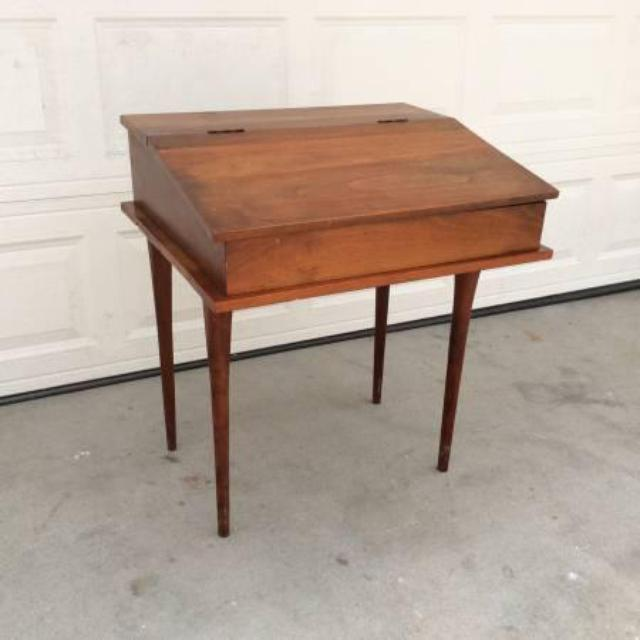 Old Fashioned Writing Desk With Flip Flop Open Loveseat