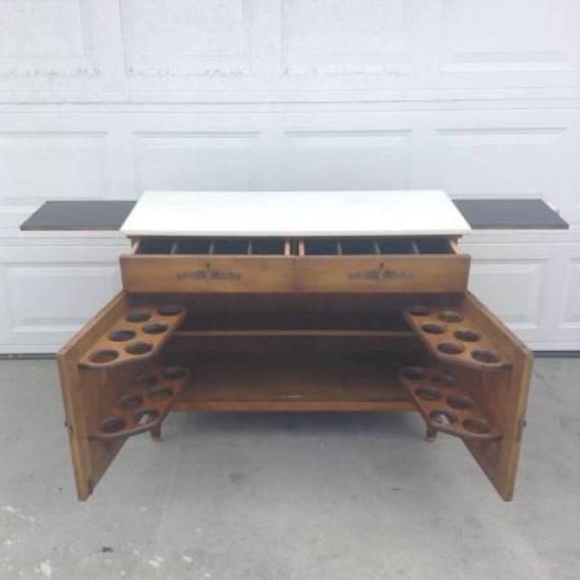 marble top solid wood bar loveseat vintage furniture san diego. Black Bedroom Furniture Sets. Home Design Ideas