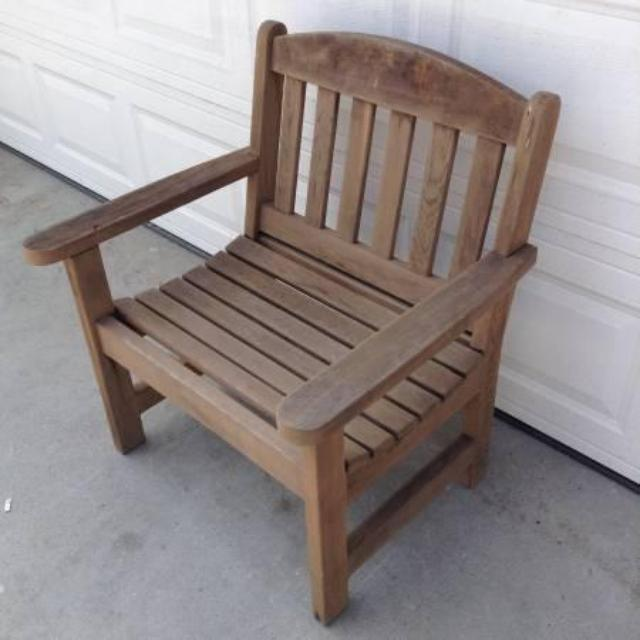 Wooden Teak Patio Chair Loveseat Vintage Furniture San Diego