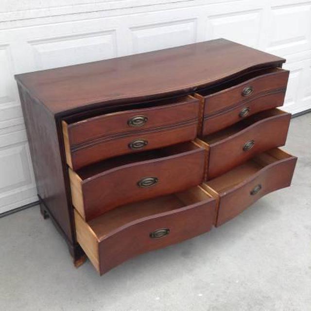 Vintage Wooden Bowfront Quot Bassett Quot Dresser Loveseat