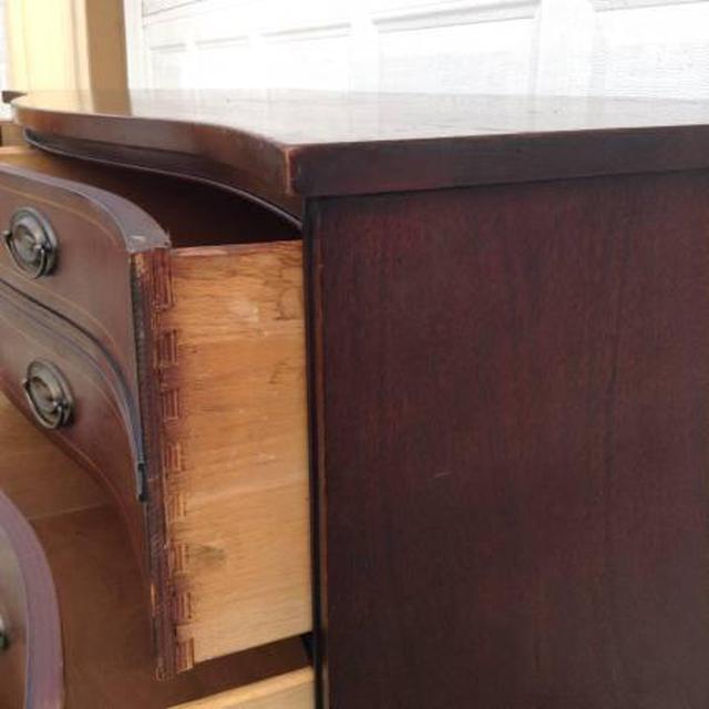 """Bassett Furniture Online: Vintage Wooden Bowfront """"Bassett"""" Dresser"""