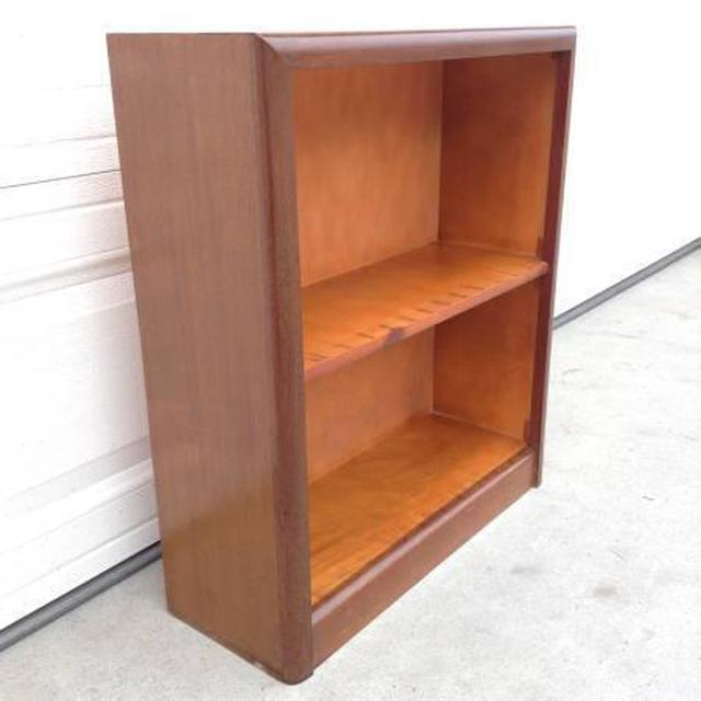 Small 2 Shelf Wooden Bookcase Loveseat Vintage Furniture