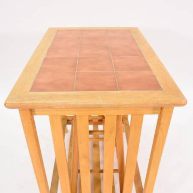 Kitchen Tables With Stools: Tile Top Kitchen Table W/ 2 Stools