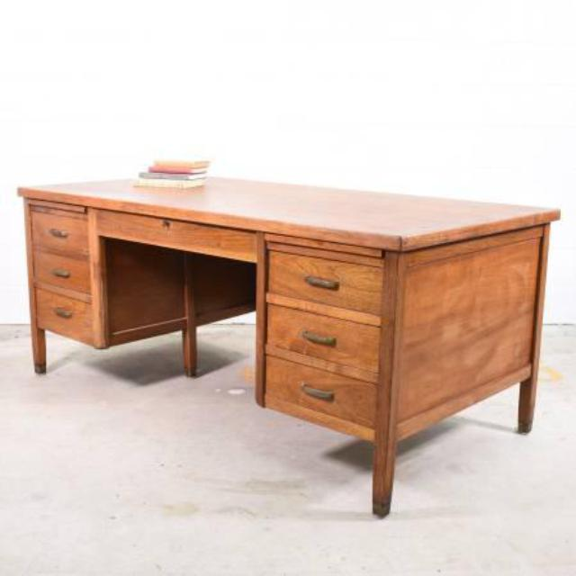 Quot Clemco Quot Retro Solid Wood Desk W 6 Drawers Loveseat