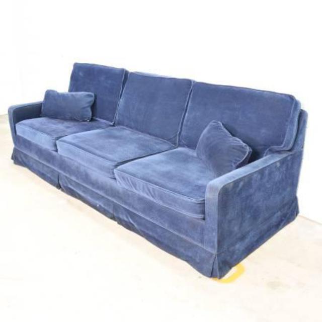 Sleeper Sofa San Francisco: Retro Electric Blue Sofa Sleeper