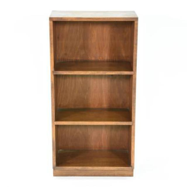 Small Solid Wood Bookcase W 3 Shelves Loveseat Vintage