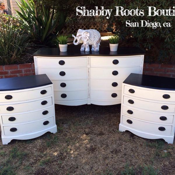 White and black mahogany vintage bedroom set loveseat - Bedroom furniture sets los angeles ...