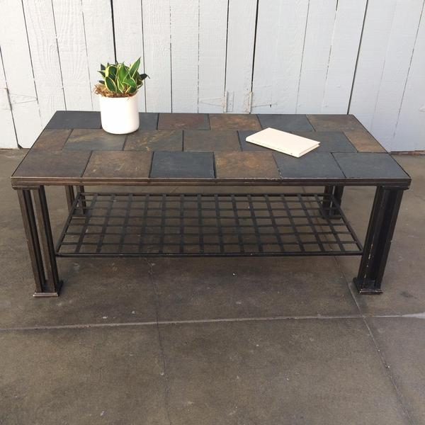 Industrial Slate Coffee Table Loveseat Vintage Furniture San Diego