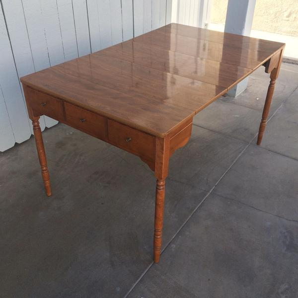 Walter Of Wabash Expandable Dining Table Loveseat Vintage Furniture