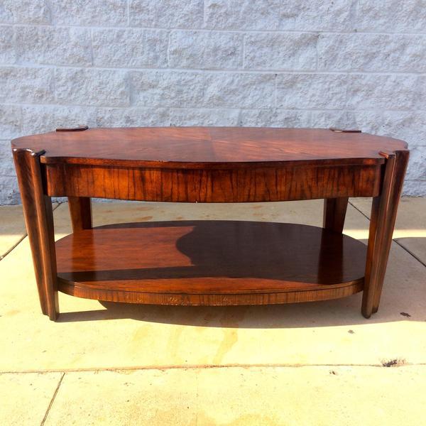 Unique Art Deco Style Coffee Table Loveseat Vintage Furniture San Diego