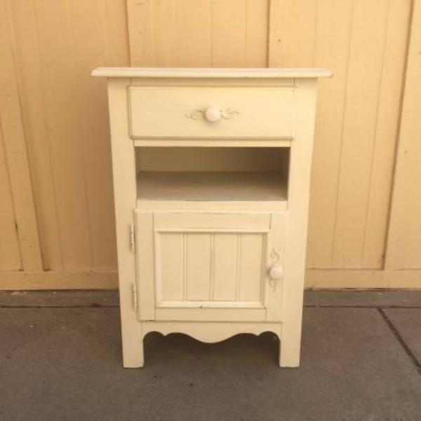 cute white shabby chic nightstand loveseat vintage