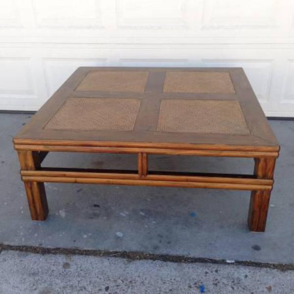 Fancy Square Coffee Table Loveseat Vintage Furniture San Diego