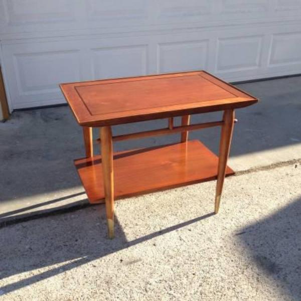 39 lane 39 mid century modern end table loveseat vintage for Mid century furniture san francisco